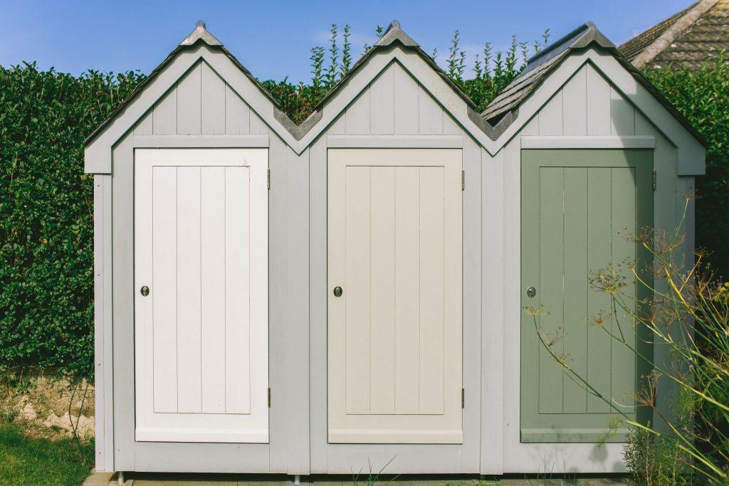 Bespoke traditional beach hut storage shed