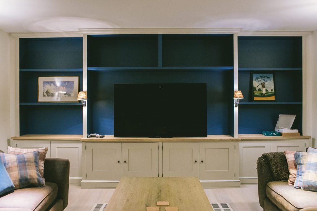 New fitted tv and games cabinet in traditional style