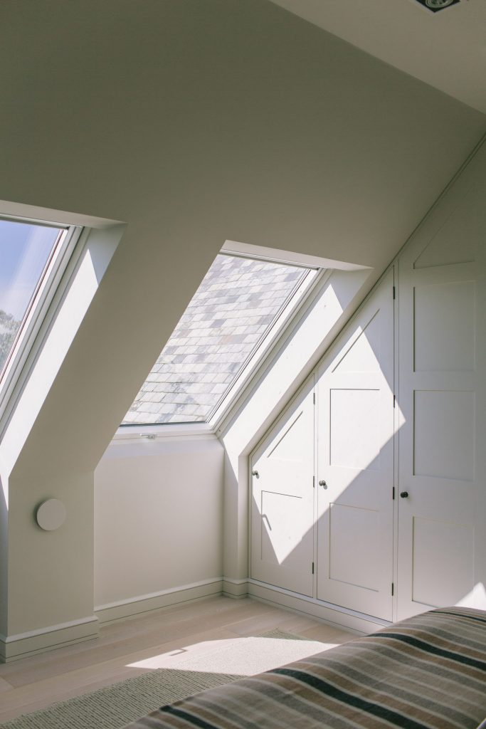 Large roof lights in Cornish new-build