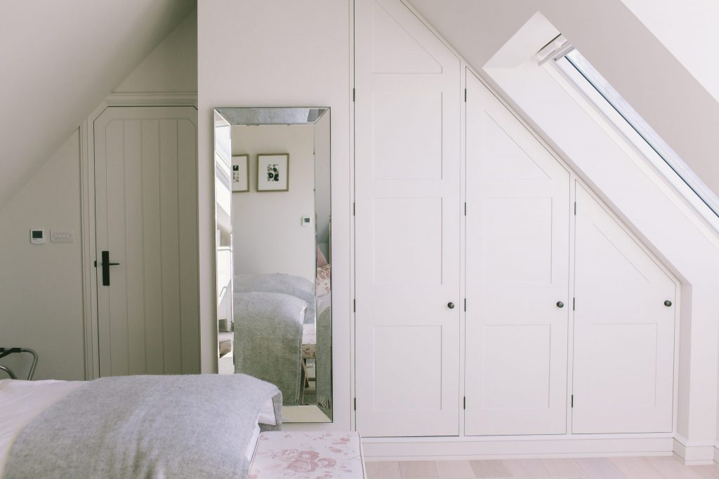 New fitted wardrobes in loft room