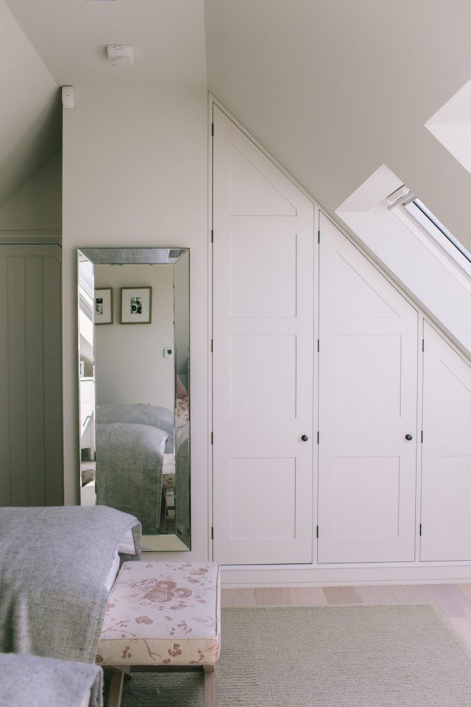 Wardrobes designed by architect made by joiner
