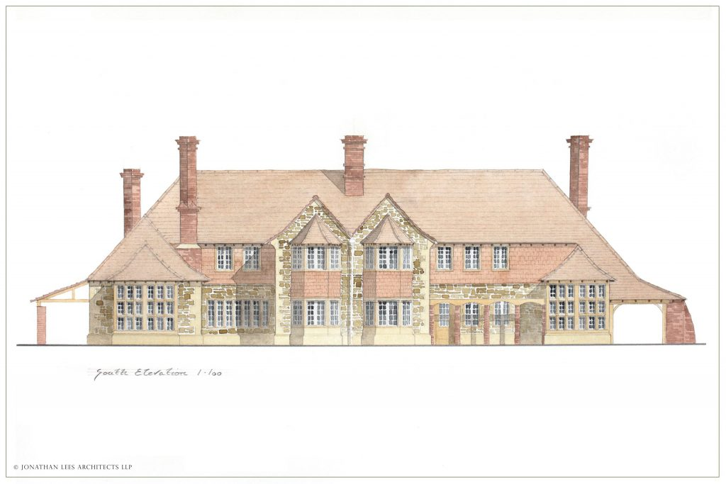 Arts and Crafts New Country Manor Design